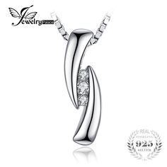 JewelryPalace Cubic Zirconia 3 stones Pendant Real 925 Sterling Silver Fashion Jewelry For Women Not Include A Chain Fine Jewelry, Women Jewelry, Fashion Jewelry, Fashion Accessories, Fashion Fashion, Argent Sterling, Sterling Silver, Mens Gear, Engagement Gifts