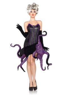Disney 2Pc. Disney Villains Ursula Adult Costume Leg Avenue…