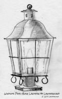 Windsor Pier-Base Column Mount Copper Lantern