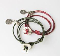 Boho Leather Wrap Stacked Bracelets Lucky Charm by totalhandmadeD