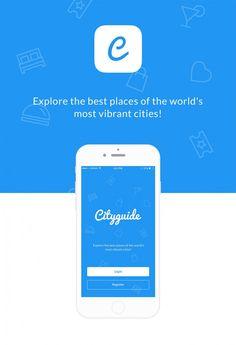 Cityguide Mobile App UI PSD