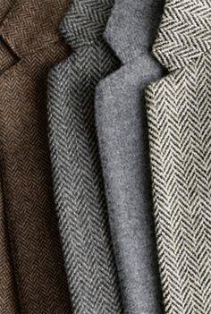 Herringbones, tweeds...blazers on blazers. Quite a closet!