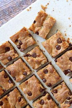 Chocolate Chip Peanut Butter Bars recipe - RecipeGirl.com