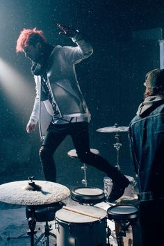 I wonder how hard it is to play drums with snow on them