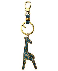 Giraffe key chain from fossil