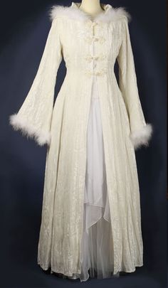 446 - The Snow Queen Robe - Gothic, romantic, steampunk clothing from The Dark Angel