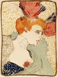 Henri de Toulouse-Lautrec (French, 1864-1901). Mille Lender en Buste, 1895. The University of Michigan Museum of Art, Michigan. Gift of Ruth W. and Clarence J. Boldt, Jr., 2008. http://www.umma.umich.edu