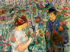 "igormaglica: ""Edvard Munch (1863-1944), Beneath the Red Apples, 1913. """