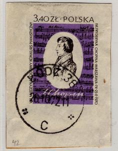 1970 - Poland postage stamp Chopin