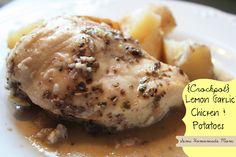 Semi Homemade Mom: Crockpot Lemon Garlic Chicken & Potatoes
