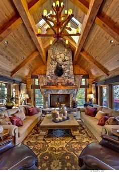 Log cabin is perfect for vacation homes by Log Cabin Homes Modern Design Ideas, second homes, or those who want to downsize into a smaller log home. Log cabin dimensions for Log Cabin Homes Modern Design Ideas of cheap and… Continue Reading → Log Cabin Living, Log Cabin Homes, Cozy Living, Cabin Style Homes, Style At Home, Log Home Decorating, Decorating Ideas, Decor Ideas, Cabin Interiors