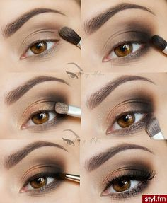I love my addiction: Quick and easy to make :) - step by step Tutorial Sombra, Eye Tutorial, Makeup Inspo, Makeup Inspiration, Makeup Tips, Eyeliner, Eyeshadow, Make Up Tricks, Peinados Pin Up