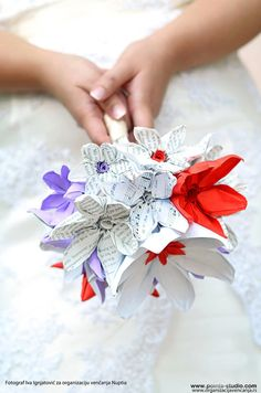Alternative Wedding bouquet Origami Flowers by CeruleanBird, $65.00