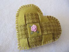 Inspiration...- Wool Felt Brooch - woven and embroidered. $8.00 (was 12.00) via Etsy.