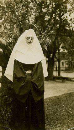 Nun in Horn Rimmed Glasses by WonderfullyStrange, via Flickr