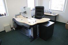 Multi Desk with Maple finish