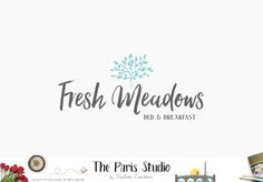 Handwriting Tree Logo Design - hospitality branding, restaurant logo, event planning logo,