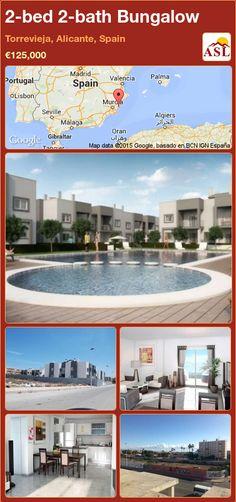 2-bed 2-bath Bungalow in Torrevieja, Alicante, Spain ►€125,000 #PropertyForSaleInSpain