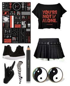 """""""You're Not Alone"""" by headphones-girl ❤ liked on Polyvore featuring Thelermont Hupton, Converse, Estée Lauder and Tripp"""