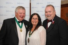 The annual dinner was staged at the end of the first day. The newly-confirmed Presidential team (from left: Immediate Past President Tim Briggs, President Karen McDonnell and President Elect Graham Parker) were in attendance. Graham Parker, Past Presidents, Attendance, Conference, Dinner, Fashion, Dining, Moda, Fashion Styles