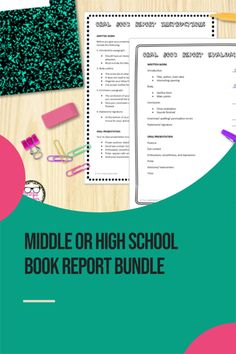 This bundle includes editable rubrics, forms, and instructions for 5 different types of book reports or post-reading assessments. #bookreports  #TheLittlestTeacher