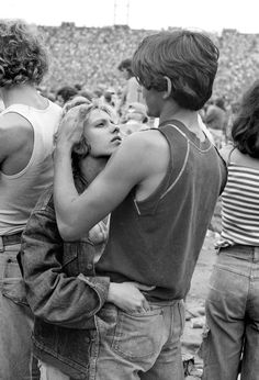 Hugging couple in Rolling Stones concert, 1978 -by Joseph Szabo