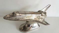 Vintage Metal Space Shuttle Columbia Money Box, NASA USA made in Japan, Heavy | eBay