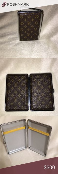 Vintage cigarette/card case 1970s cigarette holder can be used to hold cards and cash. Rare vintage and a great piece to have Louis Vuitton Bags