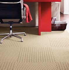A Tisket A Tasket Carpet Tiles In Almond By FLOR