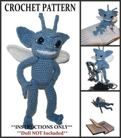 Blue Cornish Pixie Trix the Pixie Crochet Doll by SpecialtyShoppe