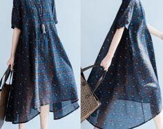 Long section of stitching loose cotton dress by babyangella