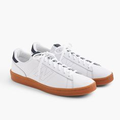 Shop the New Balance for J.Crew 791 leather sneakers at J.Crew and see the entire selection of Men's Footwear. Find Men's clothing & accessories at J. Best Sneakers, Sneakers Fashion, Shoes Sneakers, Men's Shoes, White Sneakers, White Shoes, Exclusive Shoes, Costume, How To Make Shoes