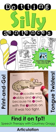 Fun dotting/stamp pages for articulation! Gotta love print & go speech therapy materials!