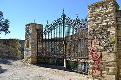 The gates to the Murphy Ranch -- reportedly an estate intended for Adolf Hitler - amazing graffitti-covered ruins!