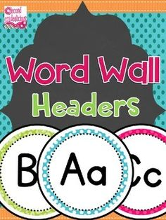 Labels - Word Wall Headers - Cheetah Print and Polka Dots These word wall headers look great against any background color! $