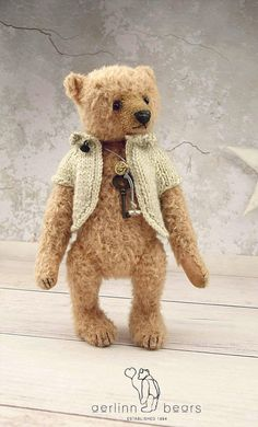"Honey Pie , OOAK 8"" Mohair Artist Teddy Bear from Aerlinn Bears"