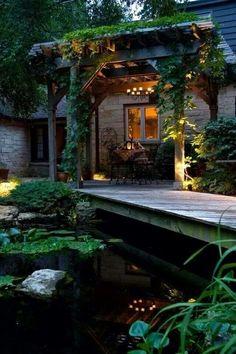Con estanque incluido, correcto ambiente, aprovechando el contacto con la Naturaleza.