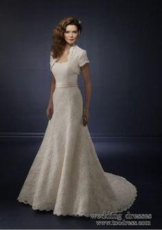 Beautiful modest wedding dress.