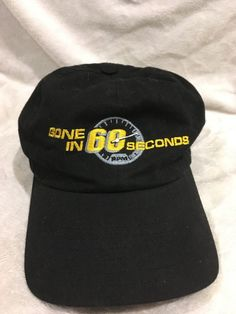Lot of 2 Movie Film Crew  amp  Collectibles Baseball Hats Gone in 60 Sec   amp 1458ea95285e