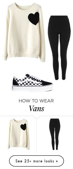 """111114 SAH"" by mil0000000000000 on Polyvore featuring WithChic, Topshop and Vans"