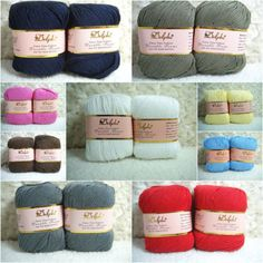 Wholesale-Luxury-Smooth-Natural-Bamboo-Soy-Knitting-Yarn-Lot-Skein-Sport26-color