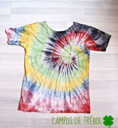 Camisetas teñidas Decor Crafts, Diy Crafts, Shibori, Tie Dye, My Love, Women, Disney Junior, Surf, Diys