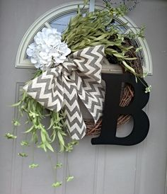 Just For You...  Boxwood wreath Front Door Wreaths Spring by bndd