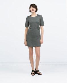 ZARA - WOMAN - BUTTON TAB WAIST DRESS