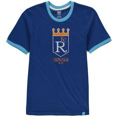 Kansas City Royals Majestic Youth Baseball Stripes Cooperstown Collection Ringer T-Shirt - Royal - $24.99