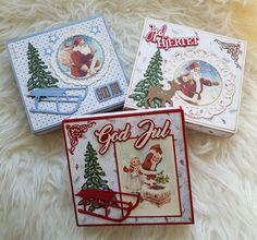 Esker til melkehjerter. ❤ Diy And Crafts, Paper Crafts, Stampin Up Christmas, Marianne Design, Creative Cards, Embellishments, Christmas Cards, Greeting Cards, Santa