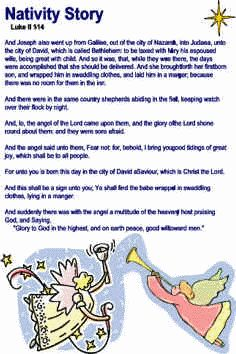 Nativity Story for kids to recite