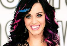 Katy Perry- obviously liking the bright hair colors lately. Not sure that really works in the job I have though haha