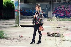 LOST PLACE SHOOTING, OUTFIT OF THE DAY VON LISA JASMIN AUF WWW.DEARFASHION.DE - Lookbook, Style, outfit, make up, beauty, modeblog, fashionblog, dear fashion blog, lost place, mannheim, opel kannenberg, camouflage, moschino, vintage