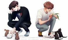 fatos sobre o shipp yoonkook, além de moments fofos. Fanart Bts, Jungkook Fanart, Bts Jungkook, Foto Bts, Fan Art, K Pop, V Chibi, Bts Drawings, Bts Fans
